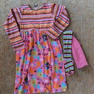 Flap Happy Dress Hose Fit Flare Retro Colors